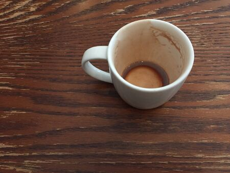 An empty coffee cup after drank