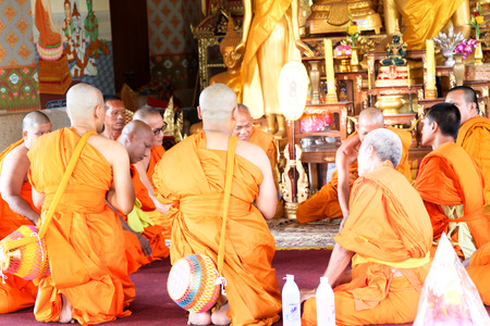 traditional thai culture for men in ordination ceremony