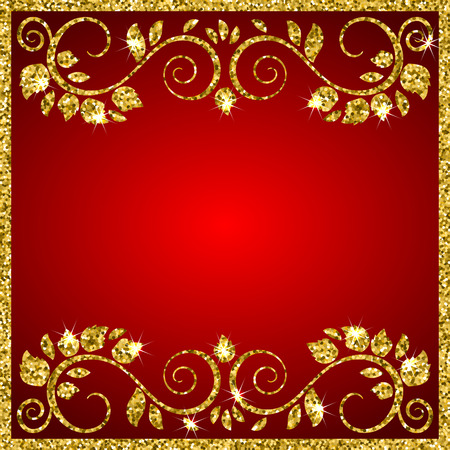 Illustration for An elegant vector background with shiny floral ornamental frame. Place for your text. Vector illustration - Royalty Free Image