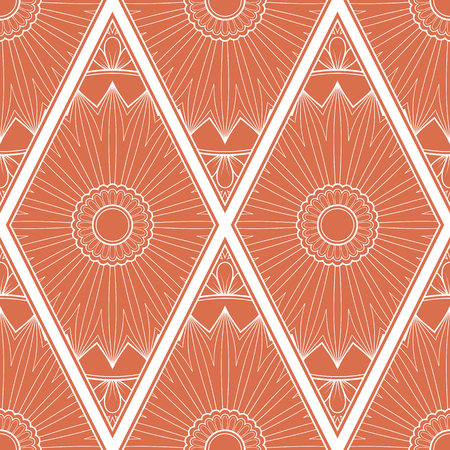Illustration pour Line art seamless pattern for fabric or wrapping paper. Background with hand-drawn elements - image libre de droit