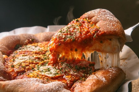 Photo for Chicago Style Deep Dish Cheese Pizza - Royalty Free Image