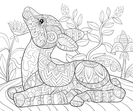Rudolph Coloring page for kids | Deer coloring pages, Rudolph ... | 375x450