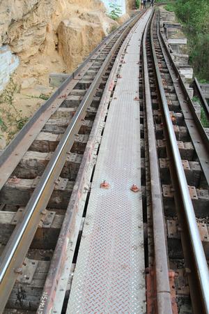 Death railway at River Kwai, Kanchanaburi, Thailand.