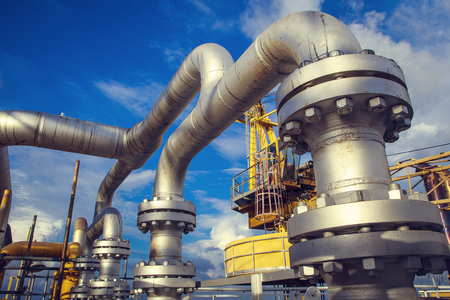 Foto für Offshore Industry oil and gas production petroleum pipeline. - Lizenzfreies Bild