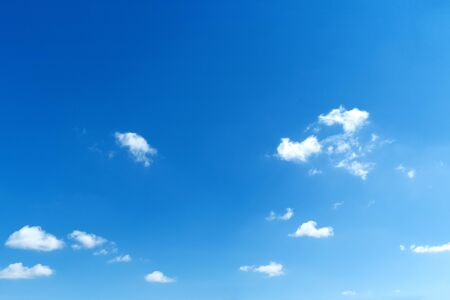 Blue sky with white clouds. Blank copy space add text