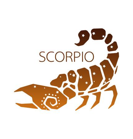 Scorpio zodiac star sign vector illustration