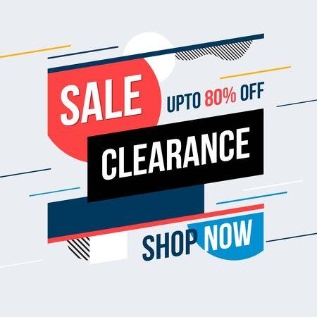 Illustration pour Sale clearance banner. Vector illustration. Concept advertising. - image libre de droit
