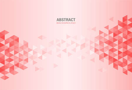 Illustration pour Abstract red modern geometric template on gradient background. Element design with triangle and hexagon shape. Vector Illustration. - image libre de droit