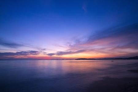 Amazing sunset form thailand beach