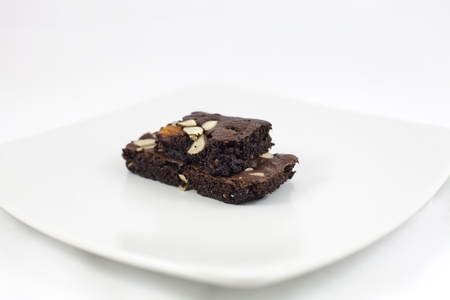 brownies on a white dise