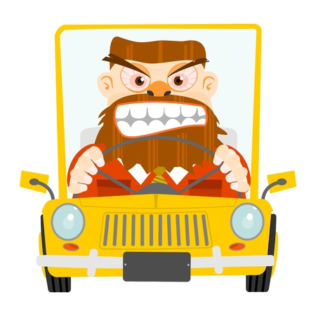 Road rage illustration