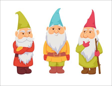 Ilustración de Gnomes vector set - Imagen libre de derechos