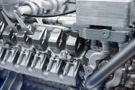 Photo pour Fragment of a diesel engine. - image libre de droit