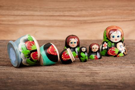 Photo pour Set of matryoshka or babushkas (Russian nesting dolls). - image libre de droit