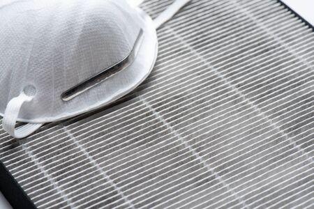 Photo pour HEPA filter for air purifier. HEPA is High efficiency particulate air filter. - image libre de droit