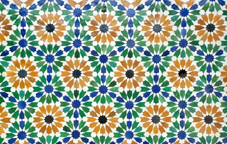 the colorful of morocco tiles