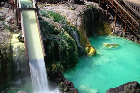 The source of hot spring , Kusatsu hot spring in Japan