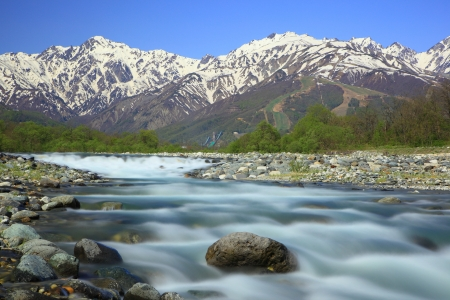 Mt. Goryudake and Matsukawa River