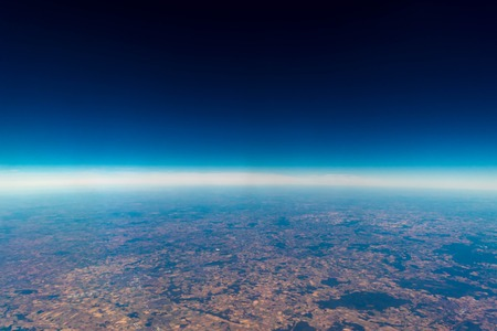 Photo pour A view from altitude of the skies weather. - image libre de droit