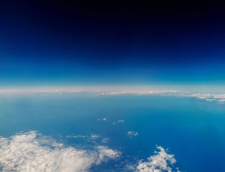 Photo pour A view of our wonderful Planet Earth, from above. Cloud patterns cover the Earth's surface bringing all types of weather. - image libre de droit