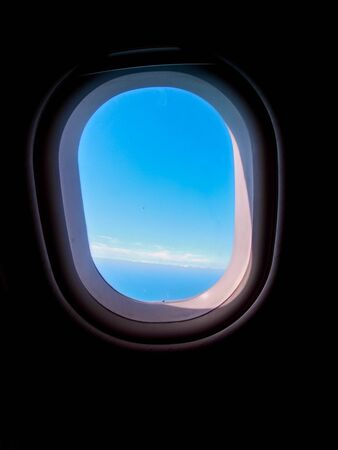 Photo for A passenger view, onboard and airline, looking out of the window. - Royalty Free Image