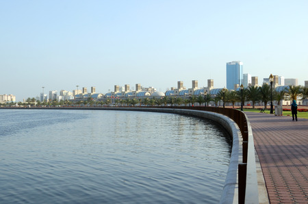 Early morning at Sharjah corniche, UAE