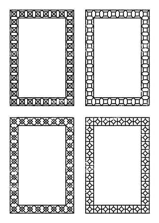 Illustration for Set of grunge geometric frames - Royalty Free Image