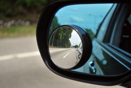 Photo pour Car rear mirror for safety - image libre de droit