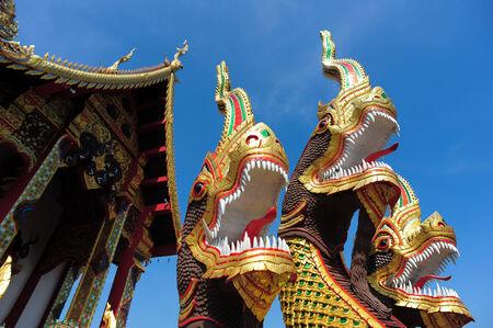LAMPANG , THAILAND - NOVEMBER 21, 2014: Amazing Lanna architectural styles of Wat Phra that Chom ping Temple.Lampang, Thailand, November 21, 2014.