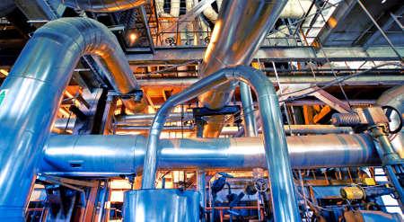 Foto für Industrial zone, Steel pipelines, valves and ladders - Lizenzfreies Bild