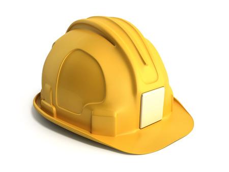 Photo pour Hard hat background Construction tools 3d render on white - image libre de droit
