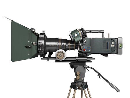 Photo pour proffesional video camera 3d render on white - image libre de droit