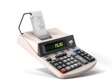 Photo pour old electronic calculator front view 3d render on white - image libre de droit