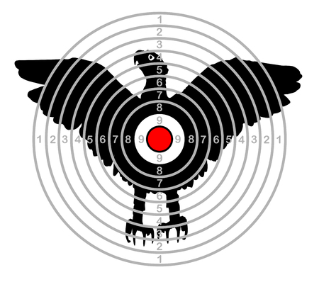 target shooting range bird eagle vector