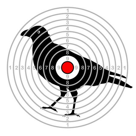 Target shooting bird in a dash