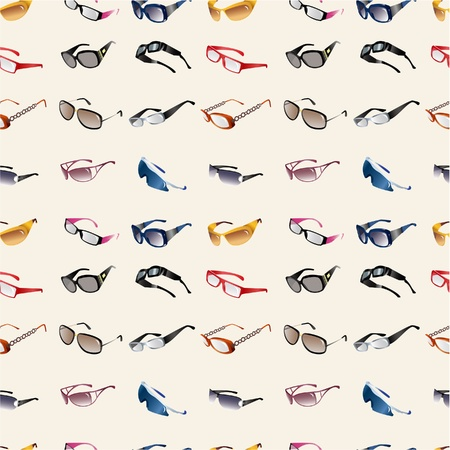 seamless Glasses & Sunglasses pattern