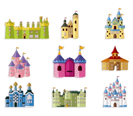 Illustration for cartoon Fairy tale castle icon  - Royalty Free Image