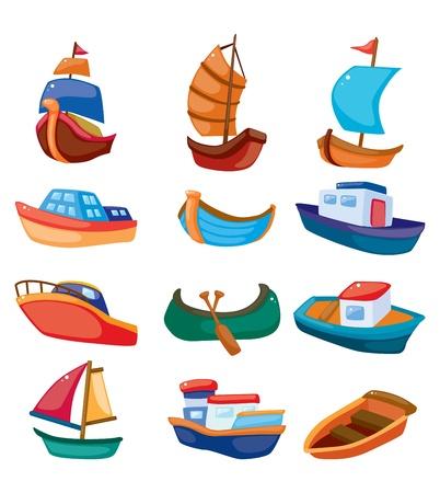 cartoon boat icon