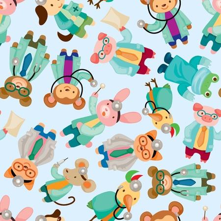 animal doctor seamless pattern