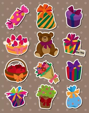 cartoon gift stickers