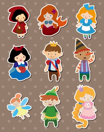 Illustration for story people stickers - Royalty Free Image