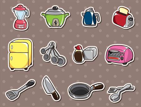 cartoon kitchen stickers