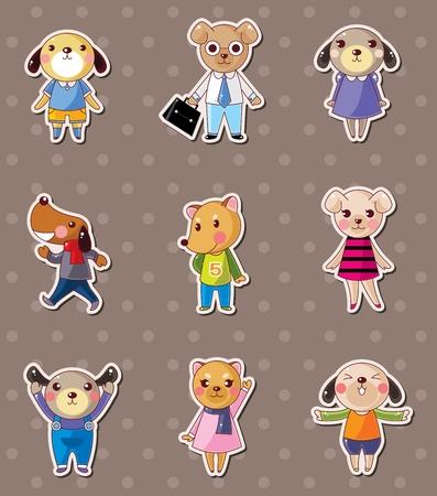 dog family stickers