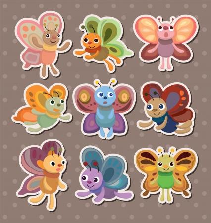 Illustration pour butterfly stickers - image libre de droit