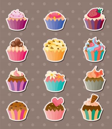 Illustration pour cup-cake stickers - image libre de droit