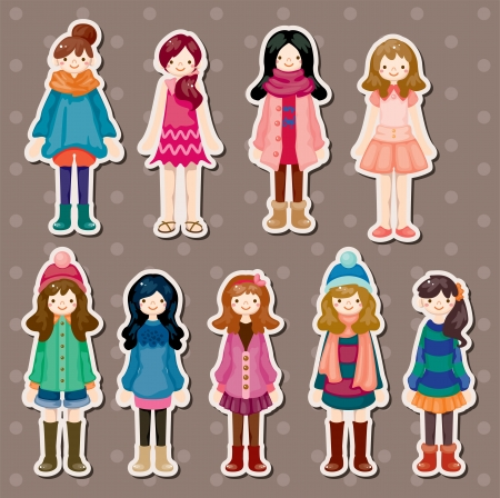 beauty girl stickers