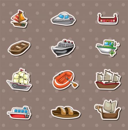 Illustration pour boat stickers - image libre de droit