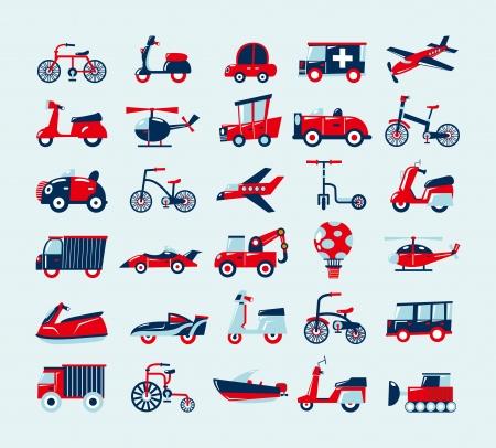 Foto de retro transport icons set - Imagen libre de derechos