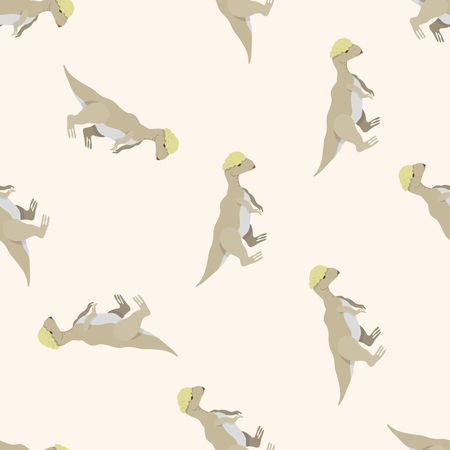 Grey Pachycephalosaurus Pattern Wallpaper