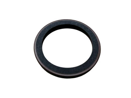 Photo pour Oil seal isolated on white background. New spare parts. - image libre de droit